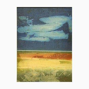 Blue Horizon - Original Mixed Media von Mario Sinisca - 1960er 1960er