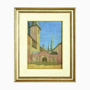 Landscape with Abey - Original Öl auf Platte von Marius Carion - 1929 1929