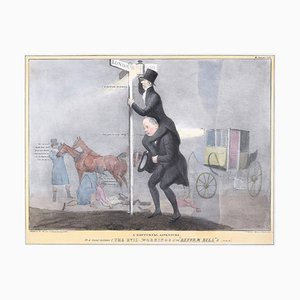 A Nocturnal Adventure - Reform Bill! - Lithographie von J. Doyle - 1831 1831