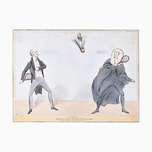 Un jeu de Shuttlecock politique - Reform Bill! Lithographie par J. Doyle - 1831 1831