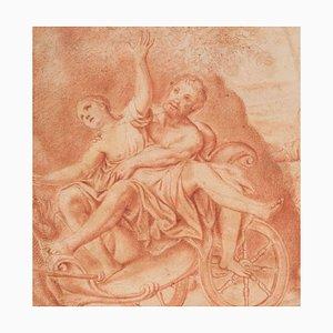 Ratte der Sabiner - Original Sanguine Zeichnung Ende des 18. Jh. Ende 18. Jh