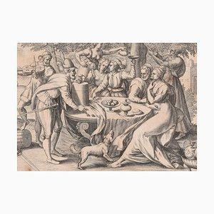 Prodigus - Original etching by Gerard de Jode - 1570 1570