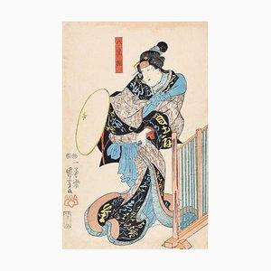 Kabuki Actor - Original Holzschnitt von Utagawa Kuniyoshi - 1848 1848