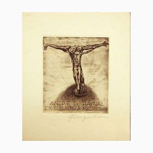André De Raynal / Ex Biblioteca Macabrum - Etching by M. Fingesten - 1937 1937