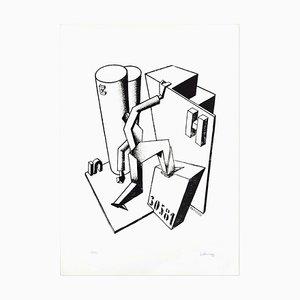 The Climber - Original Lithographie von Ivo Pannaggi - 1975 ca. Ca. 1975