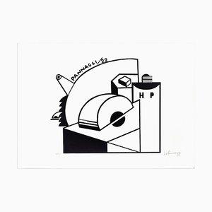 Mechanical Composition - Original Lithographie von Ivo Pannaggi - 1975 ca. Ca. 1975