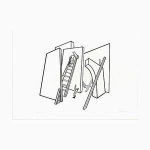The Builders - Original Lithograph by Ivo Pannaggi - 1975 ca. 1975 ca.