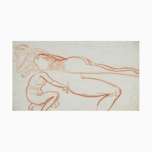 Studies for a Female Nude - Original Pastel Drawing by P. Andrieu - Late 1800 Late 19th Century
