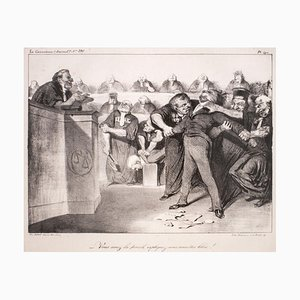 Vous avez la parole, expliquez-vous, vous etes libre - 1830s - Honoré Daumier 1833-1835