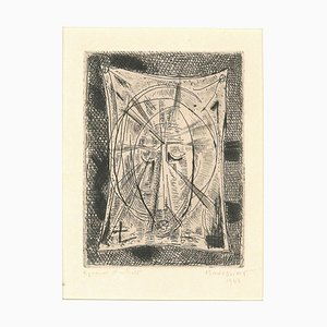 Sacred Composition - Original Etching by Alfred Manessier - 1943 1943