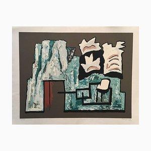Composición abstracta - Serigrafía original de A. Magnelli - 1962 1962