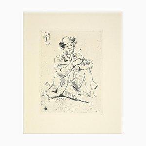 Portrait du Peintre Guillaumin - Original Etching Late 19th Century Late 19th Century