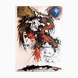 Proelium Magnum in Caelo - Original Lithograph by S. Dalì - 1964 1964