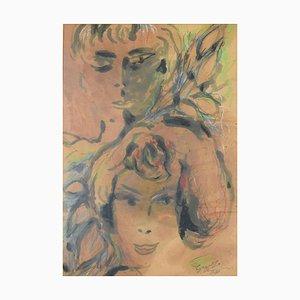 Women - Original Watercolor by Guelfo Bianchini - 1961 1961