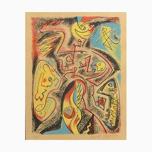 Abstract Composition - Original Lithografie von André Masson - 1970er 1970er