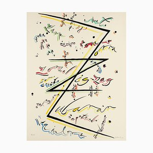 Letter Z - Original Hand-Colored Lithograph by Raphael Alberti - 1972 1972