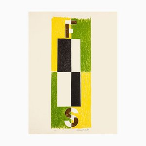 Composition - Original Lithograph by Pavel Mansouroff - 1970s 1970 ca.