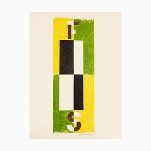 Composition - Original Lithographie von Pavel Mansouroff - 1970er ca. 1970