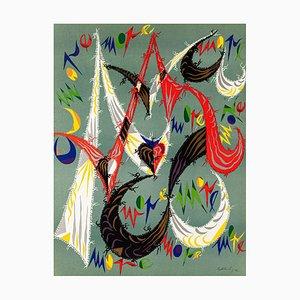 Composition - Original Lithograph by Raphael Alberti - 1972 1972