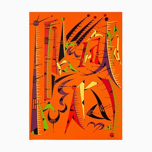 Abstract Composition - Original Lithograph by Raphael Alberti - 1972 1972
