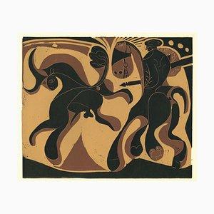 Après la Pique - Original Linolschnitt nach Pablo Picasso - 1962 1962