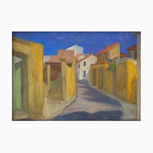 Country - Oil on Canvas by U. Carabella . Mid 20th Century Mid 20th century