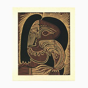 Femme au Collier - Linocut Reproduct After Pablo Picasso - 1962 1962
