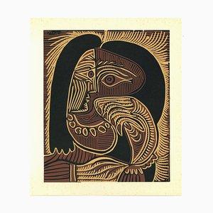 Femme au Collier - Reproduction de Linogravure d'Après Pablo Picasso - 1962 1962