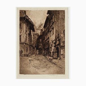Landscape - Original Etching by Luigi Kasimir - Early 1900 Early 1900