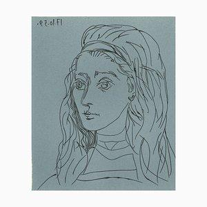 Reproduction de Linocut de Pablo Picasso par Jacqueline - 1962 1962