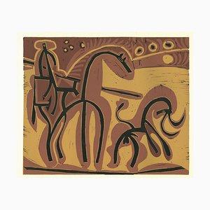 Picador et Taureau - Reproduktion von Linocut nach Pablo Picasso - 1962 1962