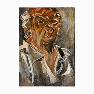 Self-Portrait - Oil on Canvas by Marco Di Stefano - 2000s 2000s