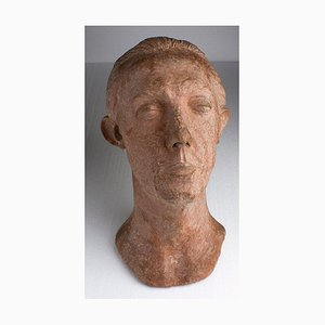 Portrait of a Man - Terracotta Sculpture - Mid 1900 Mid 1900