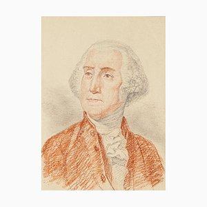 Portrait of George Washington - Bleistift und Pastell Zeichnung Ende des 18. Jahrhunderts Ende des 18. Jahrhunderts