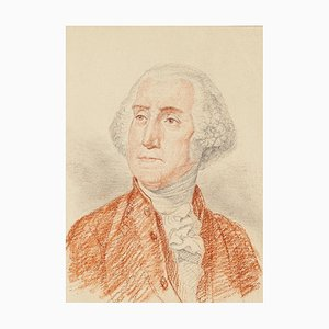 Portrait of George Washington - Pencil and Pastel Drawing End of 18th Century End of 18th Century