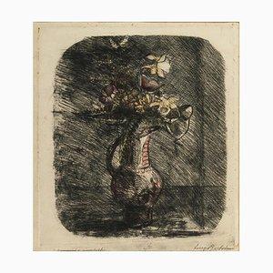Anemonen - Original Radierung von Luigi Bartolini - Mid 20th Century Mid 20th Century