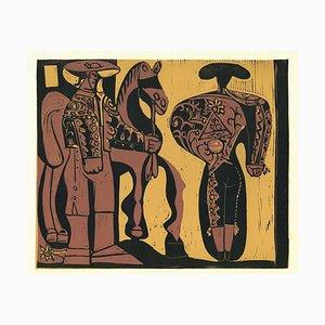 Picador et Torero - Reproduktion eines Linolschnitts nach Pablo Picasso - 1962 1962