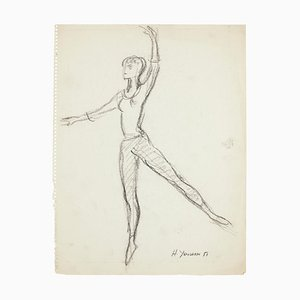 Ballet Dancers - Set of 15 Pencil and Charcoal Drawings by H. Yencesse - 1951 1951