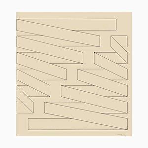Estructura - Lápiz de dibujo original de Nicola Carrino - 1969 1969