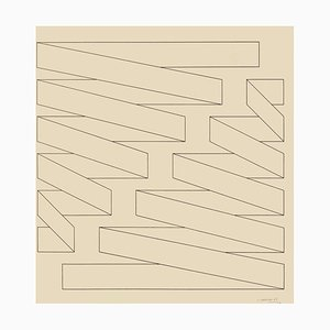 Structure - Original Federzeichnung von Nicola Carrino - 1969 1969