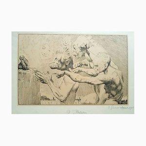 Lithographie O Italian - Original par Otto Greiner - 1915 1915