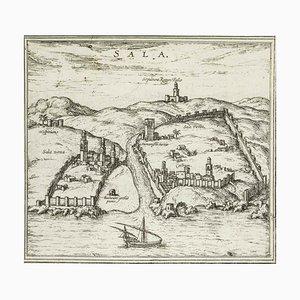 Sala, Map from ''Civitates Orbis Terrarum'' - by F.Hogenberg - 1575 1575