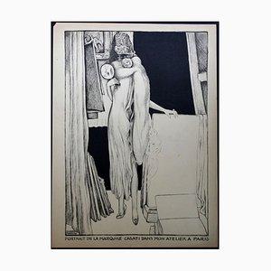 Portrait - Original Lithographie von A. Martini - 1925 1925
