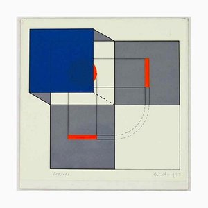Untitled - Original Siebdruck von Agostino Bonalumi - 1973 1973