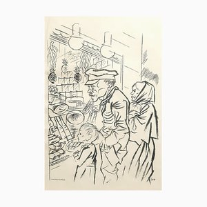 Hunger - Original Lithograph by George Grosz - 1924 1924