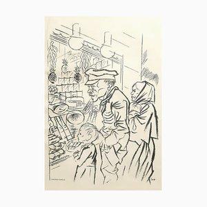 Hunger - Original Lithographie von George Grosz - 1924 1924