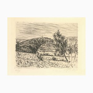 La colline de Sainte Anne - Original Etching by Dunoyer de Segonzac - 1925 1925