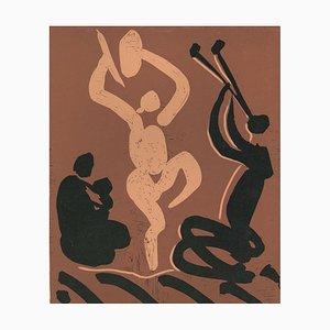 Mère. Danseur et Musicien - Original Linocut After Pablo Picasso - 1962 1962