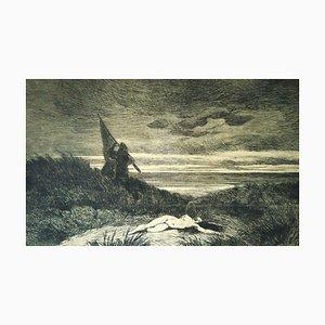 Le Werwolf - Original Etching by Félicien Rops - 1868 1868