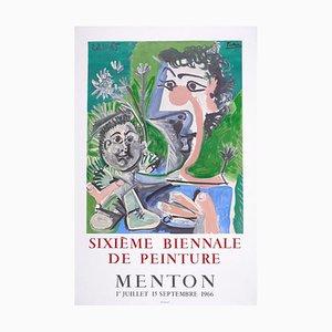 Picasso Vintage Exhibition Poster in Menton - 1966 1966